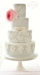 Modern Vintage Weddinghttp://awesomeweddingphotos.blogspot.com/2013/08/pretty-lace-blossoms-cake-by-cotton-and.html